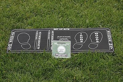 Driving Range Golf Stance Training Mat with Tutorial DVD