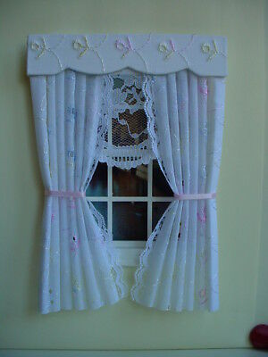 Dolls House Curtains Pretty Broderie Anglaise