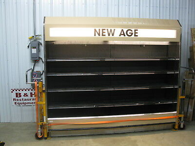 """Barker 95"""" Open Air Refrigerated 8' Multi Deck Grocery Display Case Cooler"""