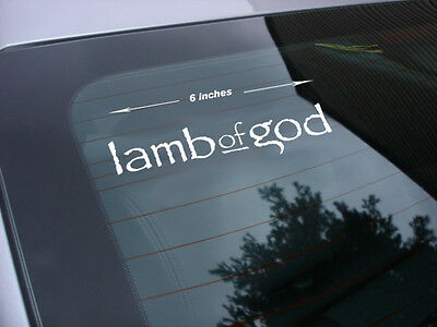 Lamb of god rock band decal sticker