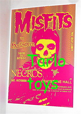 MISFITS + NECROS -  Detroit, Usa - 29 october 1983 - concert poster