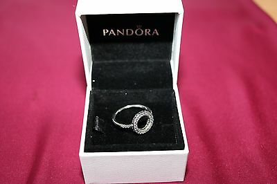Hearts of PANDORA Halo Ring. Sterling Silver S925 ALE with BOX