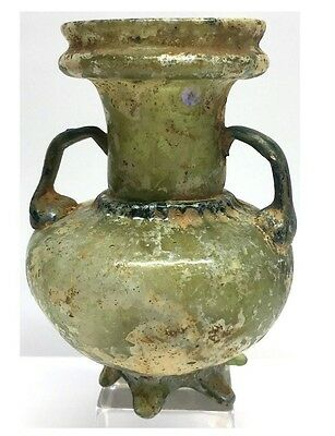 Ancient Roman Glass Unusual Sprinkler Flask.