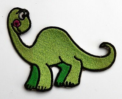 Dinosaur Iron/Sew on Embroidery Motif Green Dion