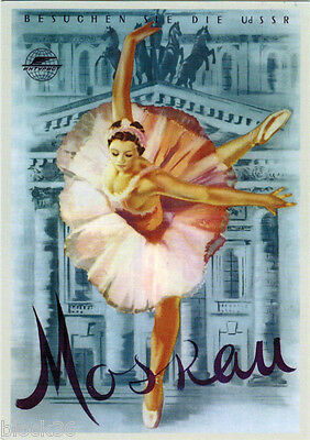 REPRO OF POSTER related to MOSCOW BALLET IN GERMANY Modern Russian postcard