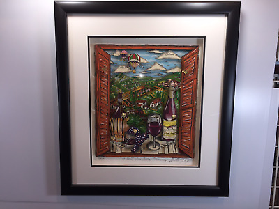 """Charles Fazzino """"The Italy Suite: Tuscany """" AP Edition 3-D Pop Art Framed"""
