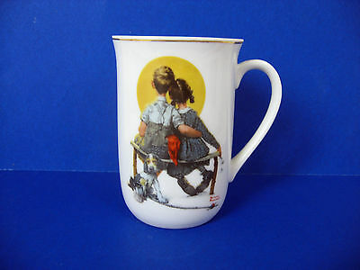"""Norman Rockwell Collectible """"1926 The Saturday Evening Post"""" Porcelain Cup"""