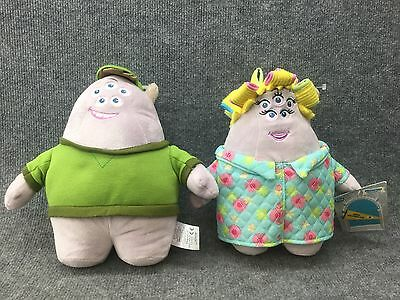 """10"""" Plush Mr. And Mrs Squishy Squibbles Disney Store Exclusive! Monsters Inc"""