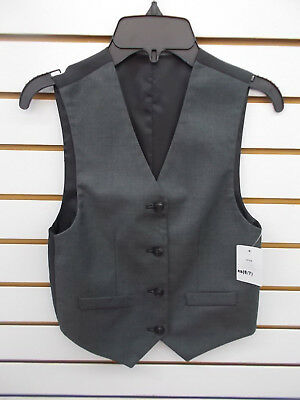 Boys Gray/Black Reversible Vest Size 6/7 - 18/20