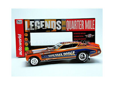 Auto World - 1/18 - Dodge Charger Funny Car - White Bear 1971 - Aw1161