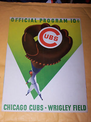1958 Chicago Cubs  Official Program Vs. Pittsburgh Pirates -Unscored - Clemente