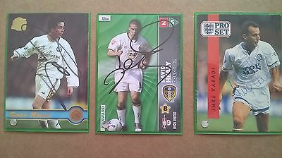 3 Leeds United signed trading cards