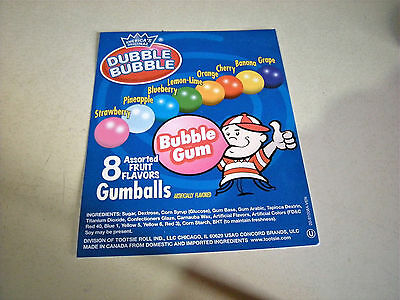 Orig Dubble Bubble Fruit Flavor Gumballs Bulk Vending Machine Product Display