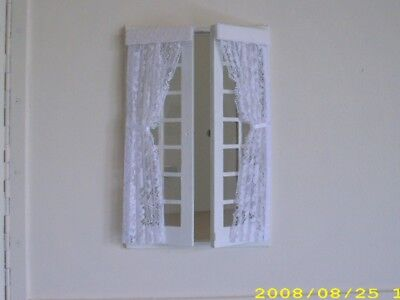 Dolls House Curtainssingle Net Curtains For French Doors X 2