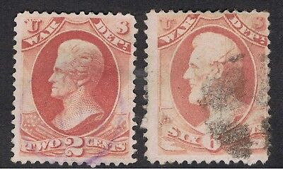 United States 1873 War Department Official Stamps