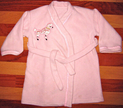 Darling Pink Soft Fleece Robe French Poodle Paris 3 4 Bath Beach Pool Lounge