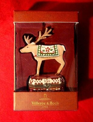 Villeroy & Boch Deer Hinged Porcelain Trinket Box