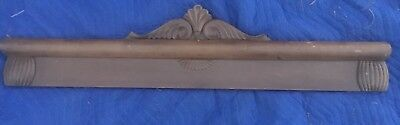 "Vtg Ornate Header Pediment 50.25"" X 11"" Architectural Wood Salvage Carvings DIY"