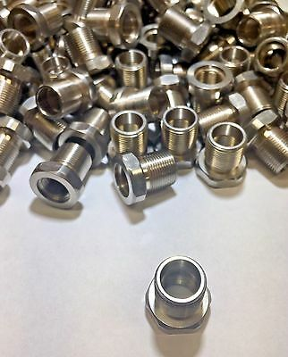 1/2 - 28 to 5/8 - 24 Thread Adapter Stainless Steel