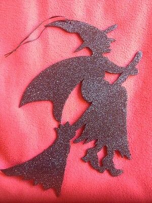 Bethany Lowe Glittered Silhouette Witch--retired