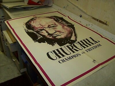 Churchill Champion Of Freedom One Sheet Poster 1965