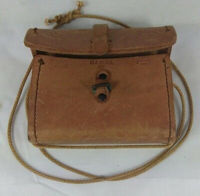 Vintage WWII WW2 Era Military​ B.L.G. Co. 42 Leather Ammo / Spare Parts Pouch.