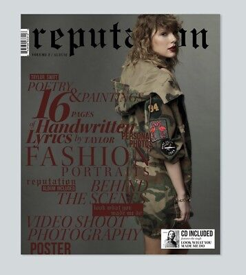 Taylor Swift Reputation Cd and Magazine Vol. 2 PREORDER