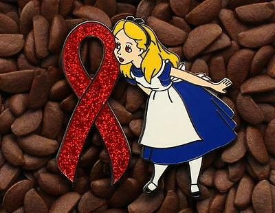 Alice pins in wonderland Red Ribbon pin