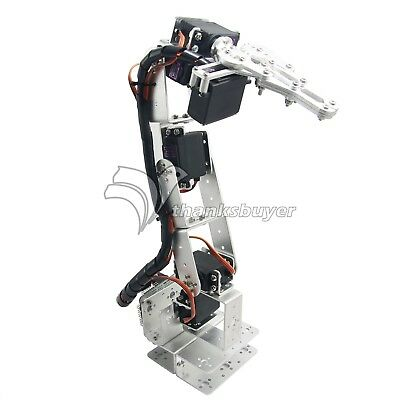 6DOF Aluminium Clamp Claw Mount Kit Mechanical Robotic Arm&Servos&Servo Horn BE