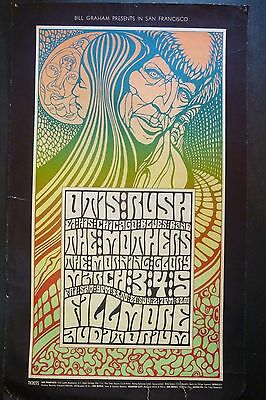1st edition BG 53 Fillmore  Poster, by Wes Wilson. March, 1967    Otis Rush