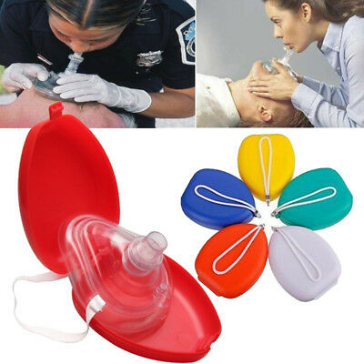 CPR Rescue First Aid Mask Mouth Breath One-way Valve Health Tools Braw
