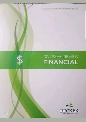 Becker CPA Exam Review Book- FAR/Financial V3.0 Newest Edition!