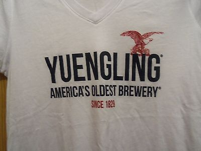 Yuengling white graphic Ladies L America s Oldest Brewery since 1829 t shirt