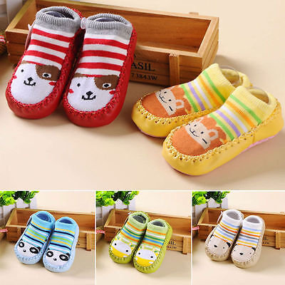 Unisex Baby Kids Toddler Boy Anti-Slip Socks Shoes Slipper Winter 6-24 Months