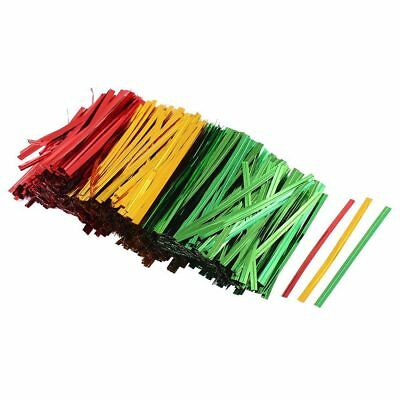 2400x Bakery Candy Gift Bags Packaging Twist Ties Gold+green+red Y3H1