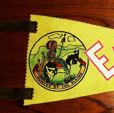 Vintage Edmonton Alberta Felt Pennant - Hunter of the Plains