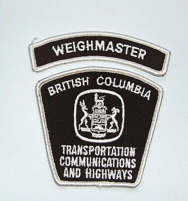RARE Weighmaster  Patch - BC Transportation Communications and Highways