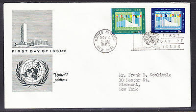 United Nations 1963 General Assembly First Day Cover addressed