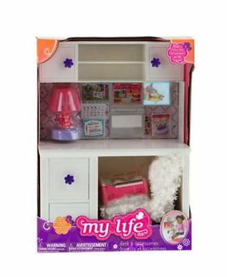 """My Life As DESK and CHAIR School 18"""" American Girl Our Generation Doll Room Set"""