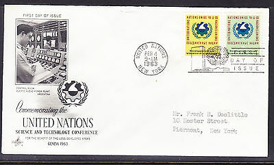 "United Nations ""Artcraft"" 1963 Science Technology Conference FDC addressed"