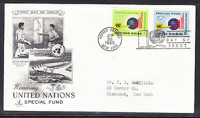 "United Nations ""Artcraft"" 1965 - Special Fund  FDC addressed"