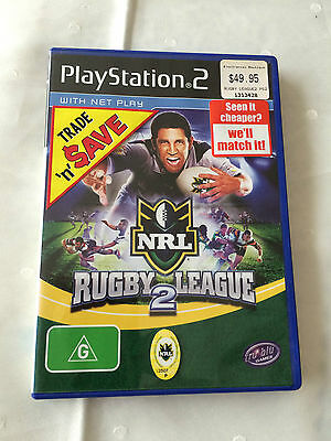 Ps2 Sony Playstation 2 Cover & Book Only Nrl Rugby League 2 !