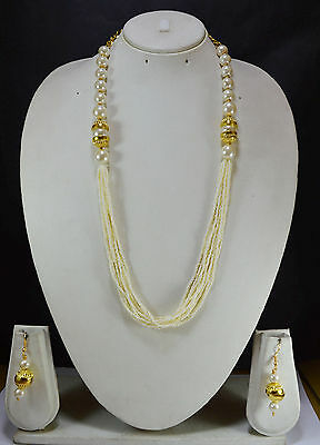 Indian Jewelry Bollywood New women Necklace set Traditional Ethnic Gold hot 84