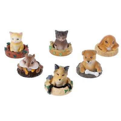 Cute Cartoon Cave Animals Miniature PVC Figures Toys Ornaments Doll Gifts New