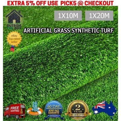 Synthetic Turf Artificial Grass Plastic Plant Fake Lawn Flooring 20m 10m Astro