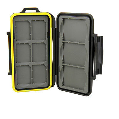 Water-resistant Shockproof Memory Case for 6 SD + 3 x CF Compact Flash Card