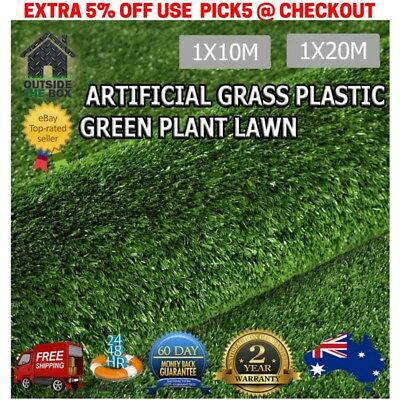Synthetic Turf Artificial Grass Plastic Plant Fake Lawn Flooring 10m 20m Astro T