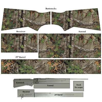 Film for wrapping self-adhesive Realtree Rifle Wrap Camo Skin. 19 Camo Patterns