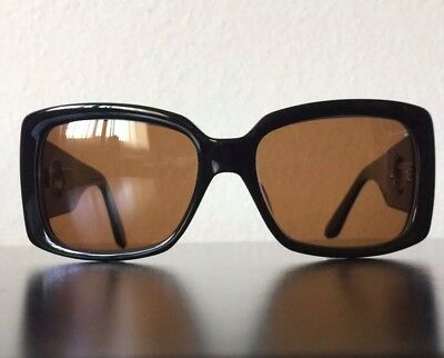 1857a761cff4 Kieselstein Cord AVA Sunglasses In Foxy Brown Lens Black Frame Chrome Hearts