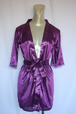 Woman's Purple Dressing Gown - No Tag- Size (8-10?)